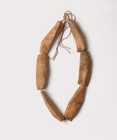Dorothea Prühl - Fische (Fishes), 2008 necklace, cherry wood - L of one shape 10 cm