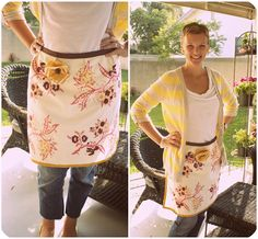a bit of sunshine: Dishtowel Apron with Heather from Life Made Lovely!