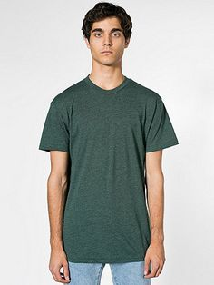 Poly-Cotton Short Sleeve Crew Neck | American Apparel