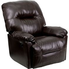 Contemporary Bentley Brown Leather Chaise Power Recliner [AM-CP9350-9075-GG] at FashionSeating.com