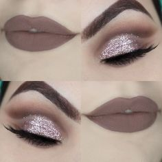 Eyeshadows And Cut Crease. Irrespective of whether you really want sparkle, flat. - Make-up - glitter nails summer Glitter Eye Makeup, Eye Makeup Tips, Smokey Eye Makeup, Lip Makeup, Makeup Eyeshadow, Eyeshadows, Green Eyeshadow, Eyeshadow Palette, Makeup Cosmetics