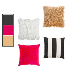 Modern Glam - kate spade inspired pillow collection, black and white striped pillow, gold shag pillow, fuchsia pillow, bright pink pillow, white shag pillow, white fuzzy pillow, Chancey Charm Details Website  - Curated Collections, Lounge and Home Accessories - Event Lounge - Home Living Space - Wedding Design, Event Design, Wedding Decor, Wedding Lounge Space, Wedding Accessories, Interior Design, Kate Spade Insipired