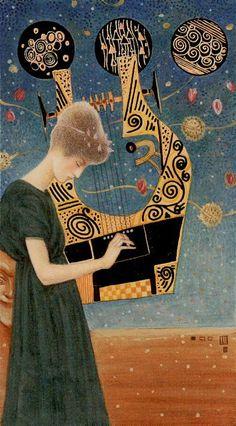 3 d'écus - Tarot de Klimt par A. Atanassov