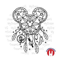 Mickey Dream Catcher Svg Dxf Eps Png Jpg Printing Digital Cutting File, Mickey Dream Catcher Svg Dxf Eps Png Jpg Printing Digital Cutting File, Related posts:Which Disney. Body Art Tattoos, Tattoo Drawings, Tatoos, Disney Tattoos, Disney Inspired Tattoos, Disney Crafts, Disney Art, Mandala Disney, Illustration Tattoo