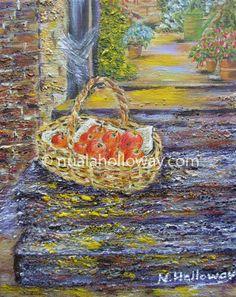 """Last of thr Windfalls"" by Nuala Holloway - Oil on Canvas www.nualaholloway.com #Apples #StillLife #IrishArt #NualaHolloway"