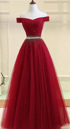 Burgundy tulle off shoulder long prom dress, burgundy evening dress, Customized . - Burgundy tulle off shoulder long prom dress, burgundy evening dress, Customized service and Rush order are available # Source by - Pretty Prom Dresses, Cute Prom Dresses, Ball Dresses, Homecoming Dresses, Beautiful Dresses, Ball Gowns, Long Dresses, Dress Long, Wedding Dresses