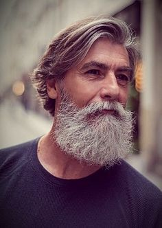 Trending beard style men in Find the best beard designs and shapes for their short and long facial hair with masculine character and charm. Beard Styles For Men, Hair And Beard Styles, Curly Hair Styles, Grey Beards, Long Beards, Mens Modern Hairstyles, Cool Hairstyles, Hairstyle Men, Badass Beard
