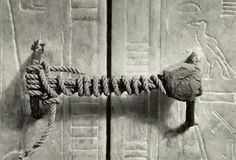 The Unbroken Seal On Tutankhamun's Tomb, 1922 (3,245 Years Untouched).