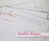 Bridal Shower Recipe Cards Template