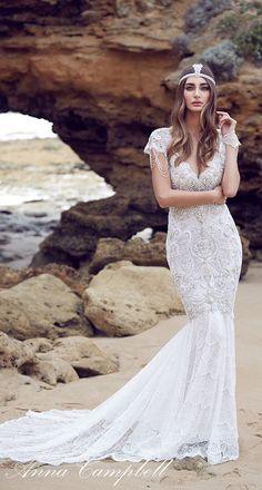 Vestido de novia de Anna Campbell Espíritus Colección