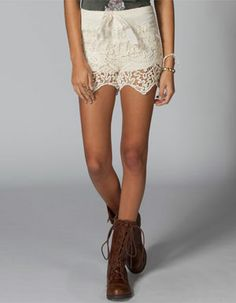 LOST Coronado Lace Tier Womens Shorts 208390151 | Shorts | Tillys.com
