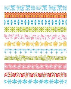 Pyrex Art Download Pattern Love 12x15 high-res by VintageDigiArt