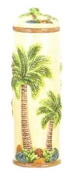 PALM TREE Ceramic Canister Vase New * Visit the image link more details. (This is an affiliate link) Home Decor Vases, Palm Trees, 3 D, Image Link, Ceramics, Palm Plants, Ceramica, Pottery, Ceramic Art
