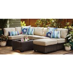 Lowe's Home Improvement Patio Table, Patio Chairs, Outdoor Furniture Sets, Outdoor Decor, Lowes Home Improvements, End Tables, Wicker, Sweet Home, Mesas