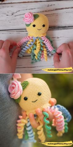 This crochet pattern contains a detailed description of how to create Baby Octopus, with a great amount of step-by-step photos and a list of necessary materials. ideas easy video tutorials CROCHET P Octopus Crochet Pattern, Crochet Animal Patterns, Stuffed Animal Patterns, Crochet Patterns Amigurumi, Crochet Dolls, Free Baby Crochet Patterns, Crochet Baby Toys, Crochet Gifts, Cute Crochet