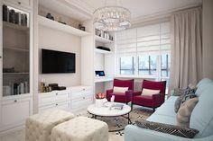 Дизайнеру Светлане Ивановой удалось без перепланировки оформить удобное и комфортное пространство для молодой семьи. Грамотное расположение мебели, продуманные системы хранения – сыграли свою роль