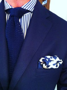 ink stained silk square by Patrick Johnson Tailors