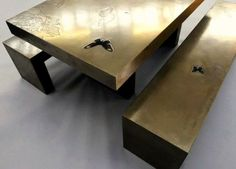 Based Upon - Butterfly Table  Bench  #metal