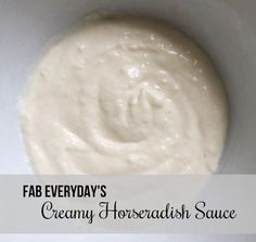This easy creamy horseradish sauce is made with ingredients you may have on hand. Make this homemade sauce to serve with a French dip sandwich or prime rib. Easy Homemade Recipes, Homemade Sauce, Prime Rib Sauce, Creamy Horseradish Sauce, Sandwich Sauces, French Dip, Pesto Sauce, Beef Dishes, Everyday Food