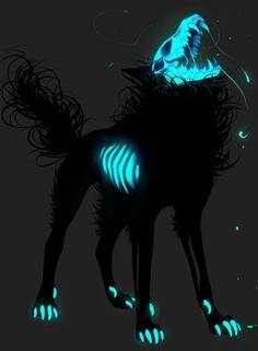 Dark Fantasy Art, Fantasy Wolf, Fantasy Beasts, Dark Art, Mythical Creatures Art, Mystical Animals, Mythological Creatures, Magical Creatures, Dark Creatures