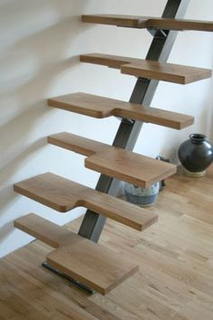 Small Space Stairs, Space Saving Staircase, Staircase Storage, Spiral Stairs Design, Staircase Design, Tyni House, House Stairs, Steel Stairs, Attic Stairs