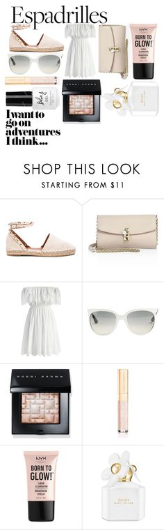 """""""ESPADRILLES"""" by ashleyclappison4 ❤ liked on Polyvore featuring Valentino, Dolce&Gabbana, Chicwish, Ray-Ban, Bobbi Brown Cosmetics, NYX and Marc Jacobs"""
