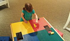Fun LEGO Table at @Havertys Furniture - Bubbles wants one!  #PicturePerfect #ad