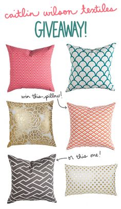 Caitlin Wilson Textiles pillow giveaway! | Inspired to Share