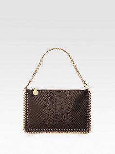 London Fashion Week Essentials - Stella McCartney Embossed Velet Falabella Bag #stellamccartney #LFW