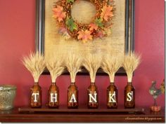 Great for mantle or buffet table display in the dining room for Thanksgiving!