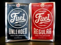 Fuel branding and packaging designed by Richie Stewart of Commoner, Inc.