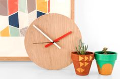 A modern clock with retro appeal.