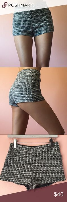 H&M Tweed Short Shorts Keep it country club tight in these tweed mini shorts by H&M. Features a high waist, and super short short hem in gray boucle tweed. Wear with a linen blouse and fresh white sneakers. Fits like a 2. Marked US 4. No returns allowed. Please ask all questions before buying. IG: [at] jacqueline.pak #hm H&M Shorts