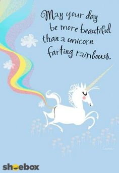 Unicorn farting rainbows.
