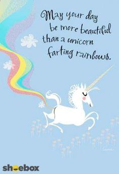 Unicorn farting rainbows.