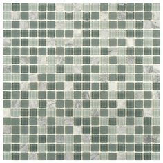 SomerTile 11.75x11.75 View Mini Fortress Glass and Stone Mosaic Tile (Pack of 16) | Overstock.com Shopping - Big Discounts on Wall Tiles