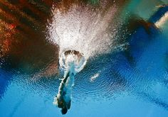 Tania Cagnotto of Italy is seen underwater during the women's 3m springboard semi final at the Aquatics World Championships in Kazan, Russia