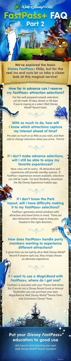 Learn the ins and outs of FastPass+ with our FAQ Part 2! #waltdisneyworld #tips #tricks