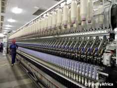 The #mohair spinning process in Uitenhage