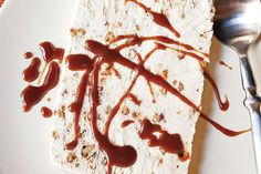 Find the recipe for Pecan Praline Semifreddo with Bourbon Caramel and other tree nut recipes at Epicurious.com