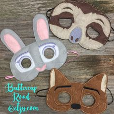 Zootopia inspired imagination masks. Get yours at Buttercuproad.etsy.com