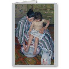 The Child's Bath by Mary Cassatt Greeting Card