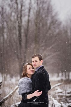 Today a quick look at Alina and Levi's winter engagement session in Clarkston. Such a fun couple! And I'm so happy that we got some snow. Winter Engagement Photos, Engagement Session, Woods, Gown, Classy, Romantic, Park, Couple Photos, Celebrities