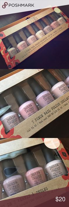 7 piece nail polish collection NUDES! BRAND NEW!!! Gorgeous colors jacky & lauren Other