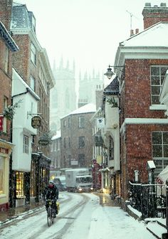 York, England in the snow