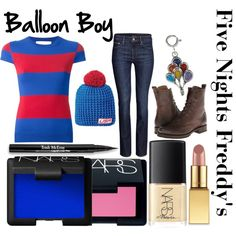 """Five nights at Freddy's inspired outfits Balloon Boy"" by tortured-puppet on… Freddy Costume, Fnaf Costume, Fnaf Cosplay, Casual Cosplay, Cosplay Outfits, Cosplay Costumes, Cosplay Ideas, Costume Ideas, Ballon Boy"