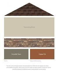Brown Roof And House Color Combinations