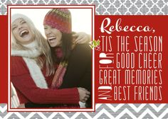 Festive Friendship - Christmas Greeting Cards in Ruby | Sarah Hawkins Designs