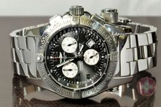 Breitling Emergency Mission w Complete Box Set Model A73322 GPS Locator Watch | eBay Sansomwatches