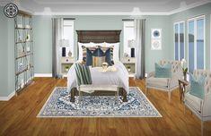 Transitional, Preppy Bedroom Design by Havenly Interior Designer Lyndsi Preppy Bedroom, Basement Bathroom, Design Process, Sweet Home, Bedrooms, Paint, Interior Design, Rugs, Colors